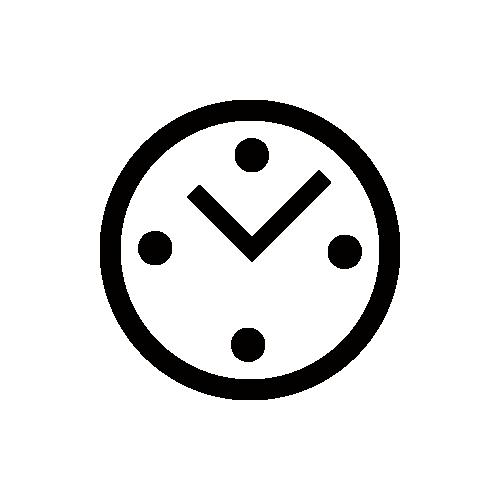 時計 モノクロアイコン