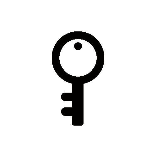 鍵 モノクロアイコン フリー素材