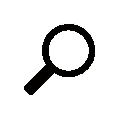 虫眼鏡 モノクロアイコン