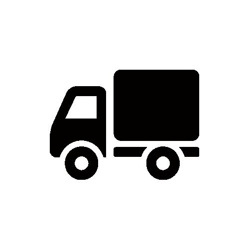 トラック モノクロアイコン フリー素材