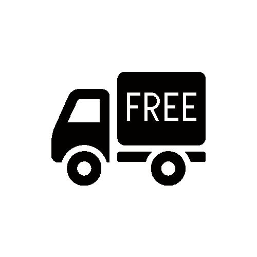 送料無料トラック モノクロアイコン フリー素材