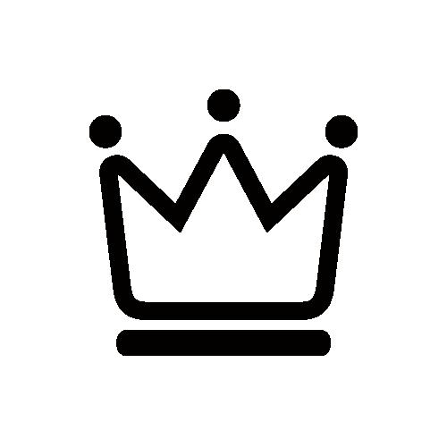 王冠 モノクロアイコン フリー素材