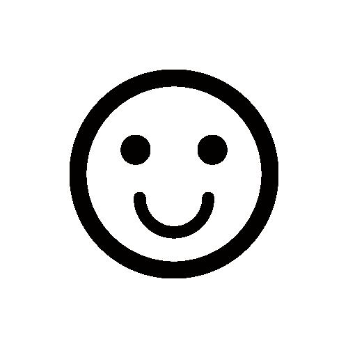 笑顔マーク モノクロアイコン フリー素材