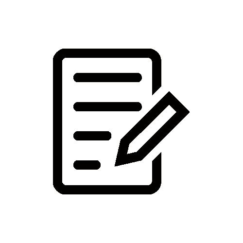 メモ/ブログ モノクロアイコン フリー素材