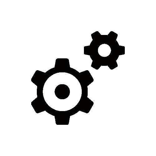 歯車 モノクロアイコン フリー素材