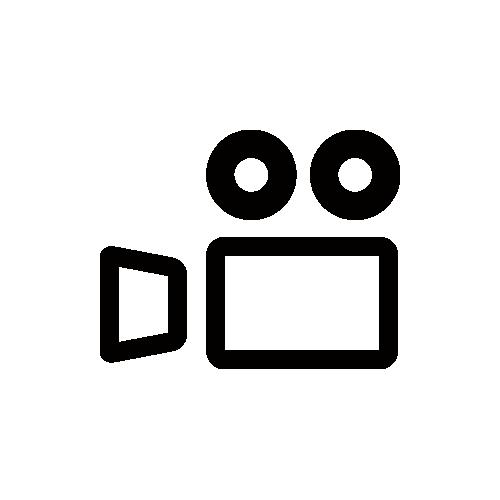 ビデオカメラ モノクロアイコン フリー素材