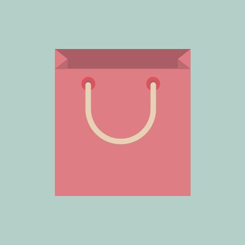 紙袋 フラットカラーアイコン フリー素材