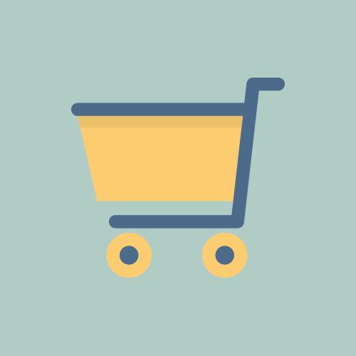 ショッピングカート フラットカラーアイコン フリー素材