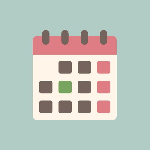 カレンダー フラットカラーアイコン フリー素材