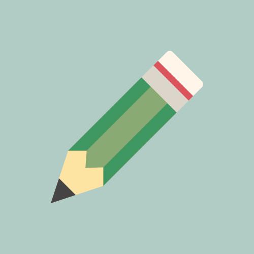 鉛筆 カラーアイコン フリー素材