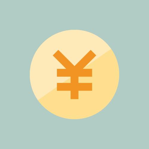 お金・円マーク フラットカラーアイコン フリー素材