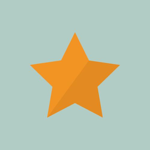 星マーク フラットカラーアイコン フリー素材