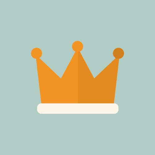 王冠 フラットカラーアイコン
