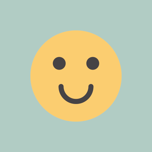 笑顔 フラットカラーアイコン フリー素材