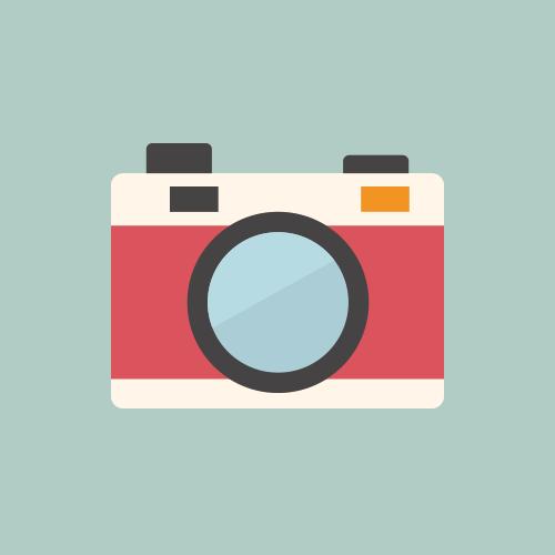 カメラ フラットカラーアイコン フリー素材