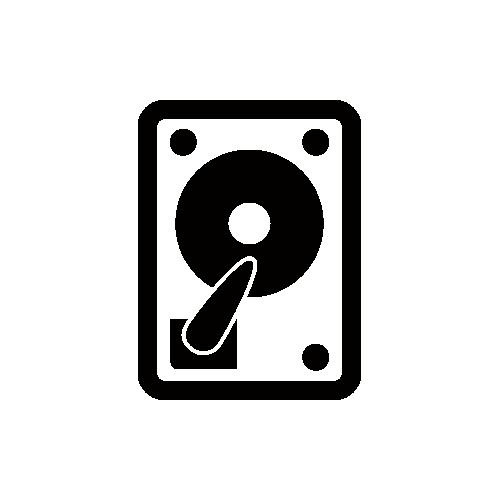 ハードディスク モノクロアイコン フリー素材