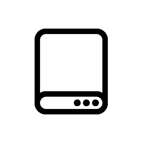 HDD/ハードディスク モノクロアイコン フリー素材