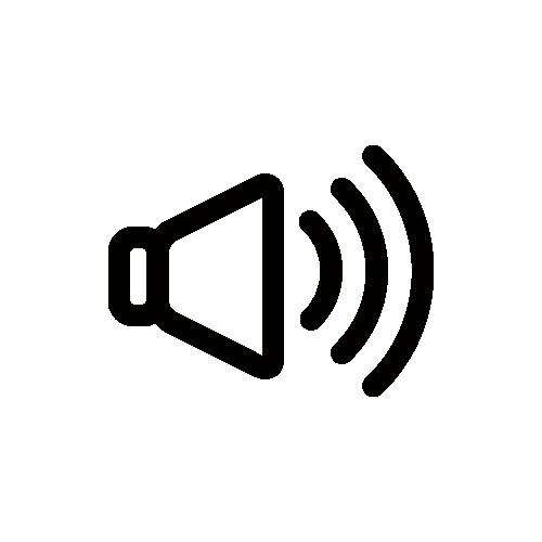 音量/ボリューム モノクロアイコン フリー素材