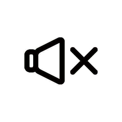 音量OFF/消音 モノクロアイコン フリー素材