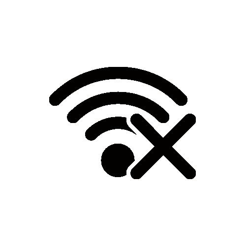 wi-fi OFF モノクロアイコン フリー素材