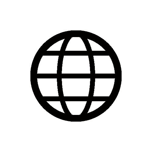 インターネット・地球 モノクロアイコン フリー素材