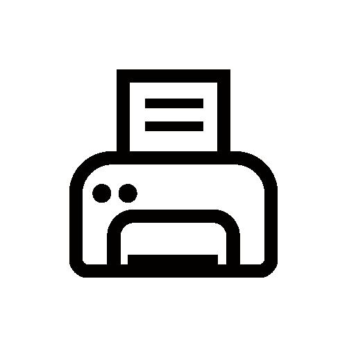 プリンター モノクロアイコン フリー素材
