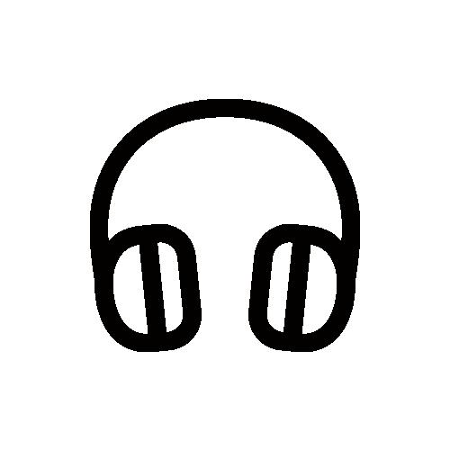 ヘッドフォン モノクロアイコン フリー素材