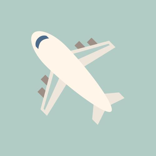 飛行機 かわいいイラスト フリー素材