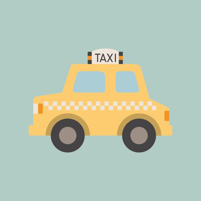 タクシーのかわいいイラスト フリー素材