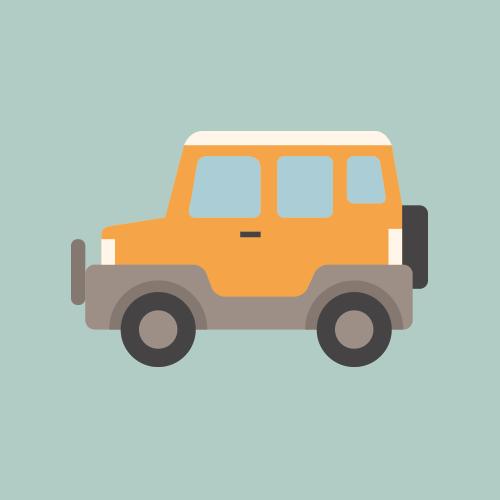 SUV シンプルイラスト フリー素材