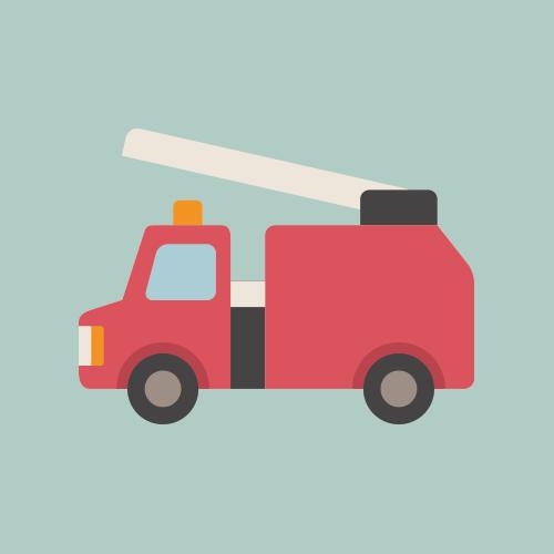 消防車 シンプルイラスト フリー素材