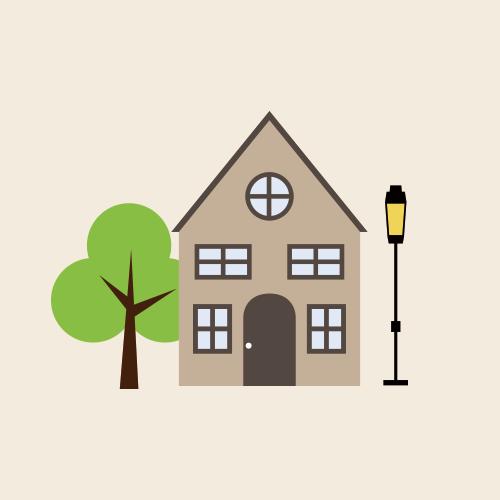 北欧風の家 シンプルイラスト