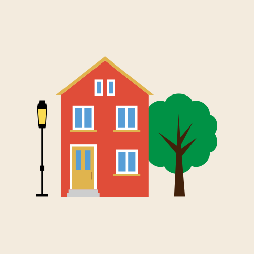 北欧風の家 イラスト フリー素材