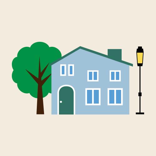 北欧風の家 シンプルイラスト フリー素材