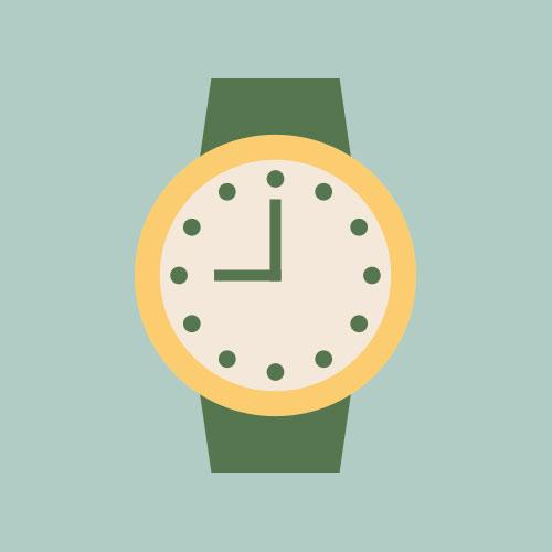 腕時計 シンプルイラスト フリー素材