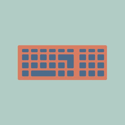キーボード シンプルイラスト フリー素材