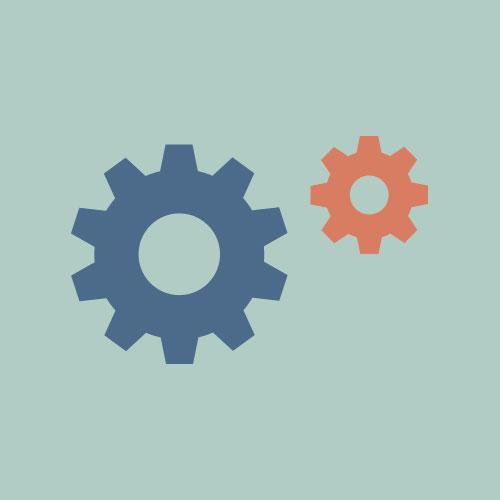 設定(歯車)  シンプルイラスト フリー素材