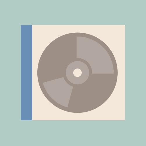 CD/DVD シンプルイラスト フリー素材