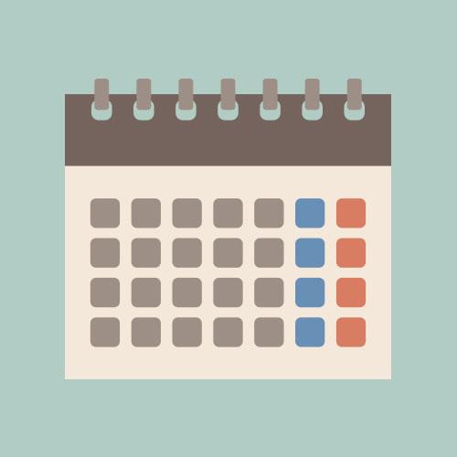 カレンダー シンプルイラスト フリー素材