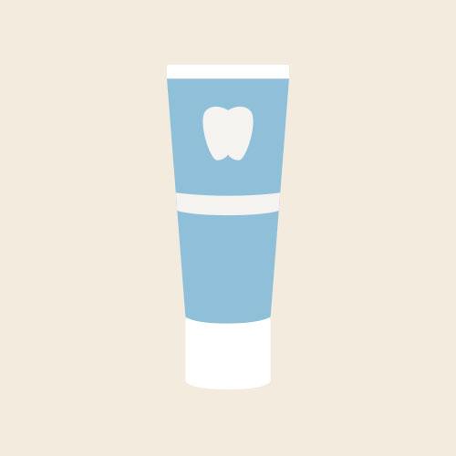 歯磨き粉 シンプルイラスト フリー素材