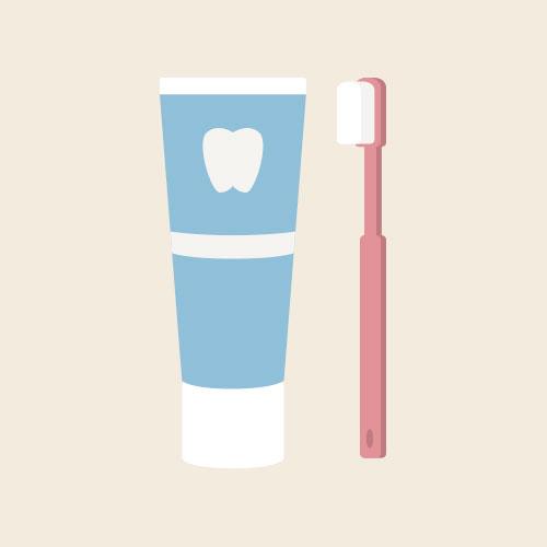 歯磨き粉/歯ブラシ シンプルイラスト フリー素材