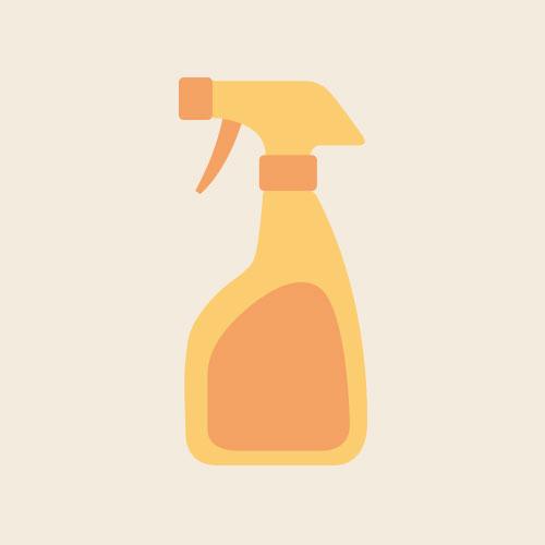 掃除用洗剤 シンプルイラスト フリー素材