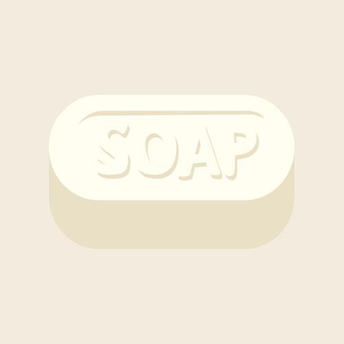 固形石鹸 シンプルイラスト フリー素材