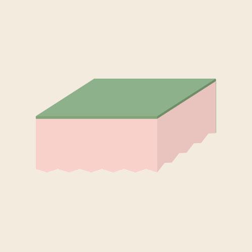 食器用スポンジ シンプルイラスト フリー素材