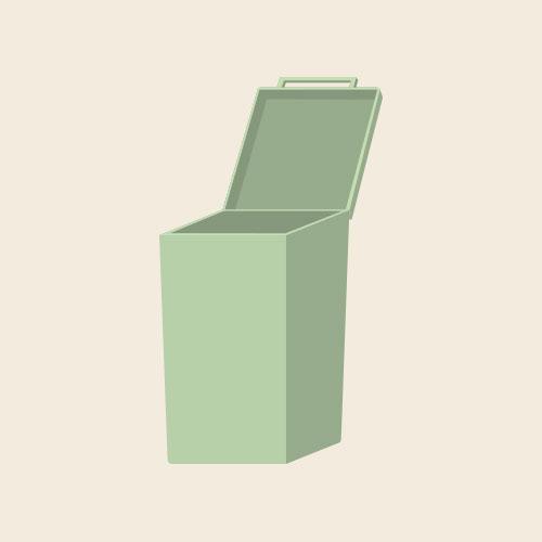 ゴミ箱 シンプルイラスト フリー素材