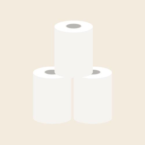 トイレットペーパー シンプルイラスト フリー素材