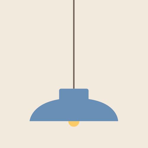 照明 シンプルイラスト フリー素材