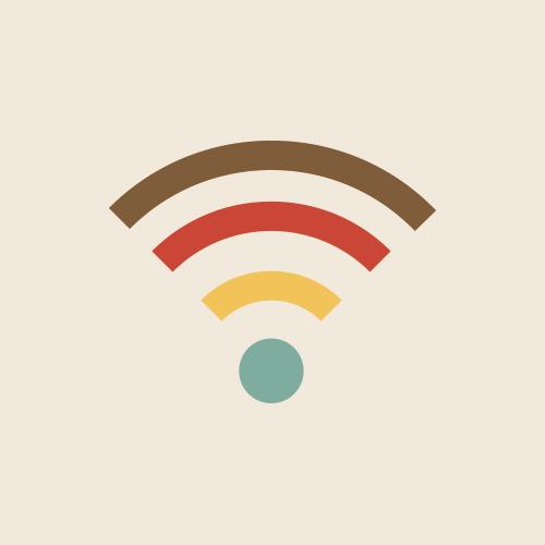 Wi-Fi レトロでおしゃれなアイコン  フリー素材