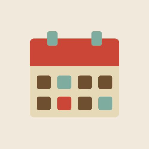 カレンダー レトロでおしゃれなアイコン  フリー素材