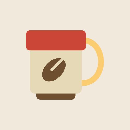 コーヒーカップ レトロでおしゃれなアイコン  フリー素材